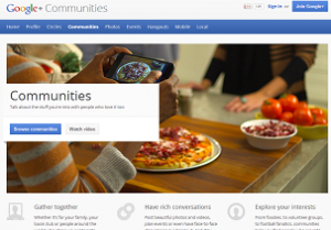 How to create a Google Plus Communities Page