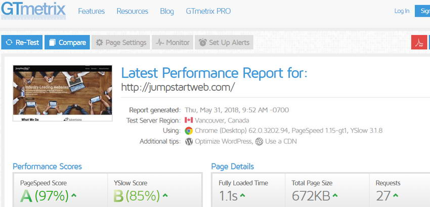 Assess Your Website With GTmetrix